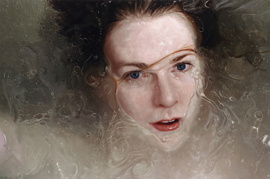 realistic painting glass window alyssa monks
