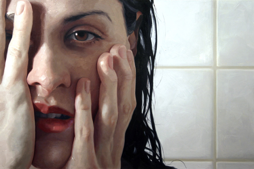 realistic painting glass window alyssa monks 5