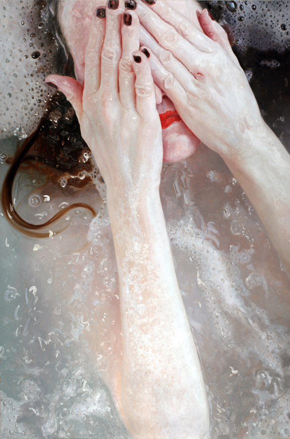 realistic painting glass window alyssa monks 6