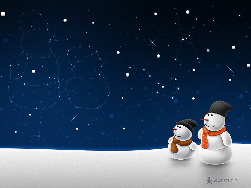 snowman constellation wallpaper