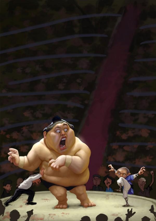 sumo digital painting