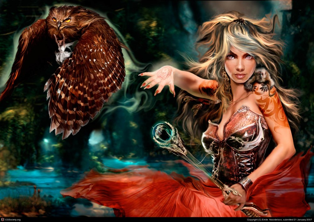 witch digital painting webneel_com (5)
