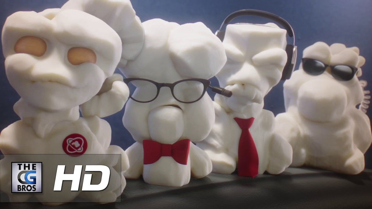 Cute popcorn 3D Animated Commercial for Scotiabank by Milford Studios