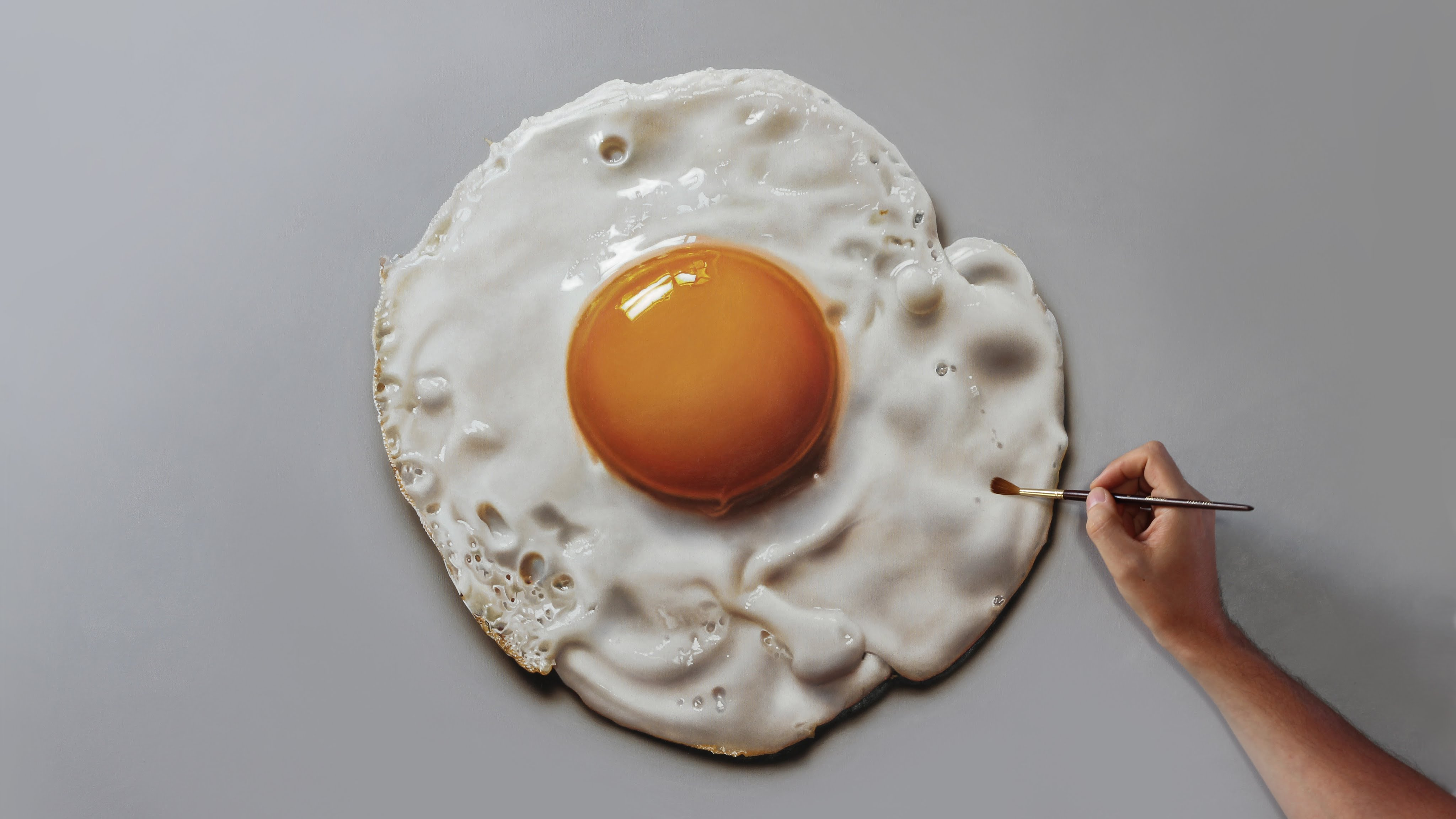 Fried Egg 3D Painting by Marcello Barenghi