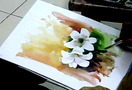 Art Demo of Flowers in Watercolors - Tutorial