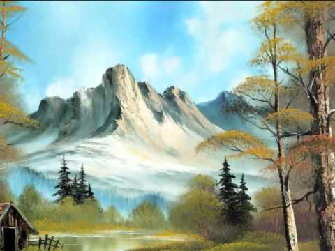 How to Tutorial: Beautiful Nature painting on canvas - Bob Ross