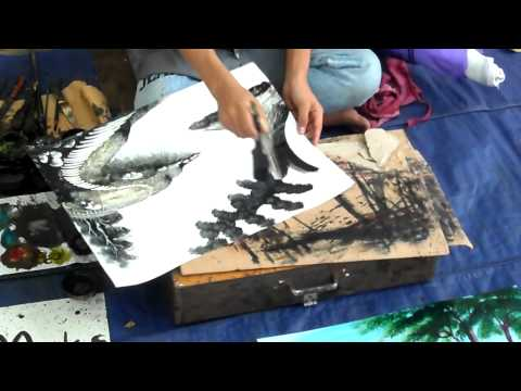 Fast Scenary Painting in 6 minutes - Amazing