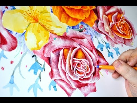 Hand drawn flowers by Paul Alexander Thornton