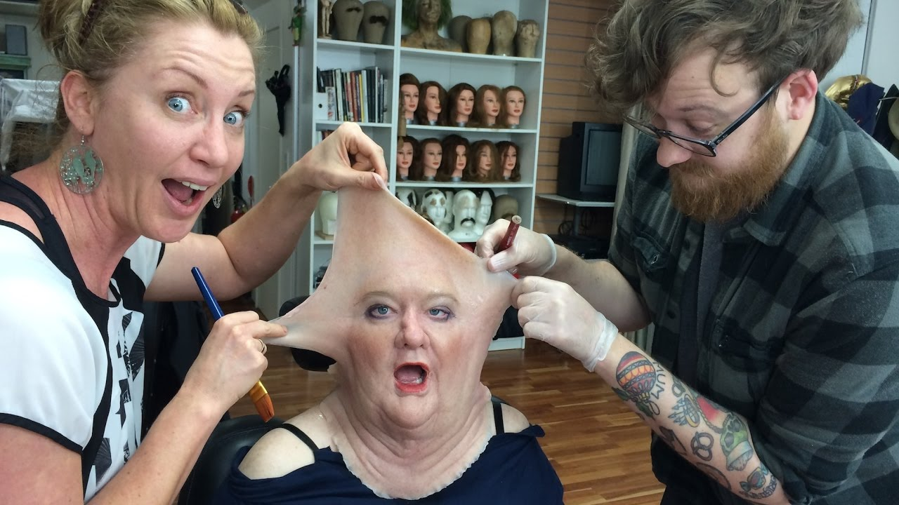 Sculpting Silicone Prosthetic Makeup on a Model by MakeUp Effects Group