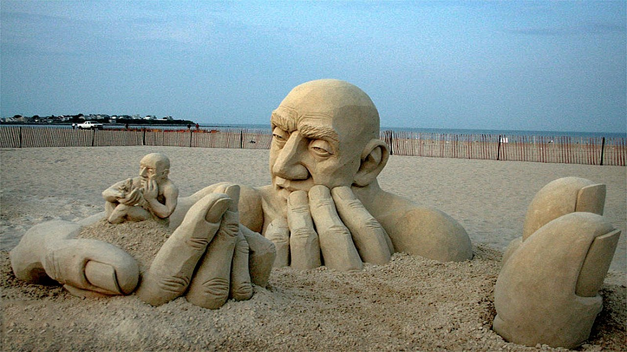 Are These Sand Sculptures or Something out of a Movie