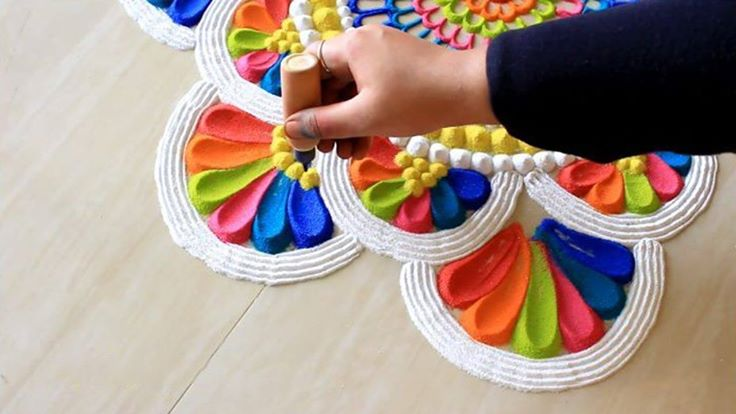 Rangoli Design Tutorial by keerthi