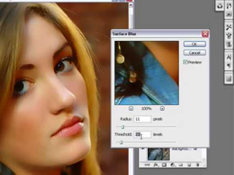 Simulate Acrylic or Oil Portrait in Photoshop Tutorial