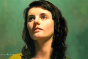 Portrait of Carol by Louis Smith(Oil in canvas) - Speed painting video
