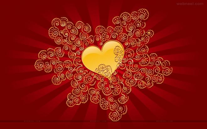 valentine day widescreen wallpaper