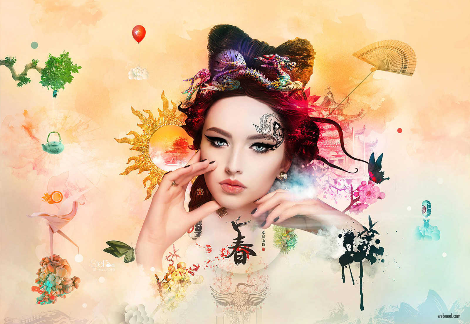 photo manipulation photoshop wallpaper by stellart