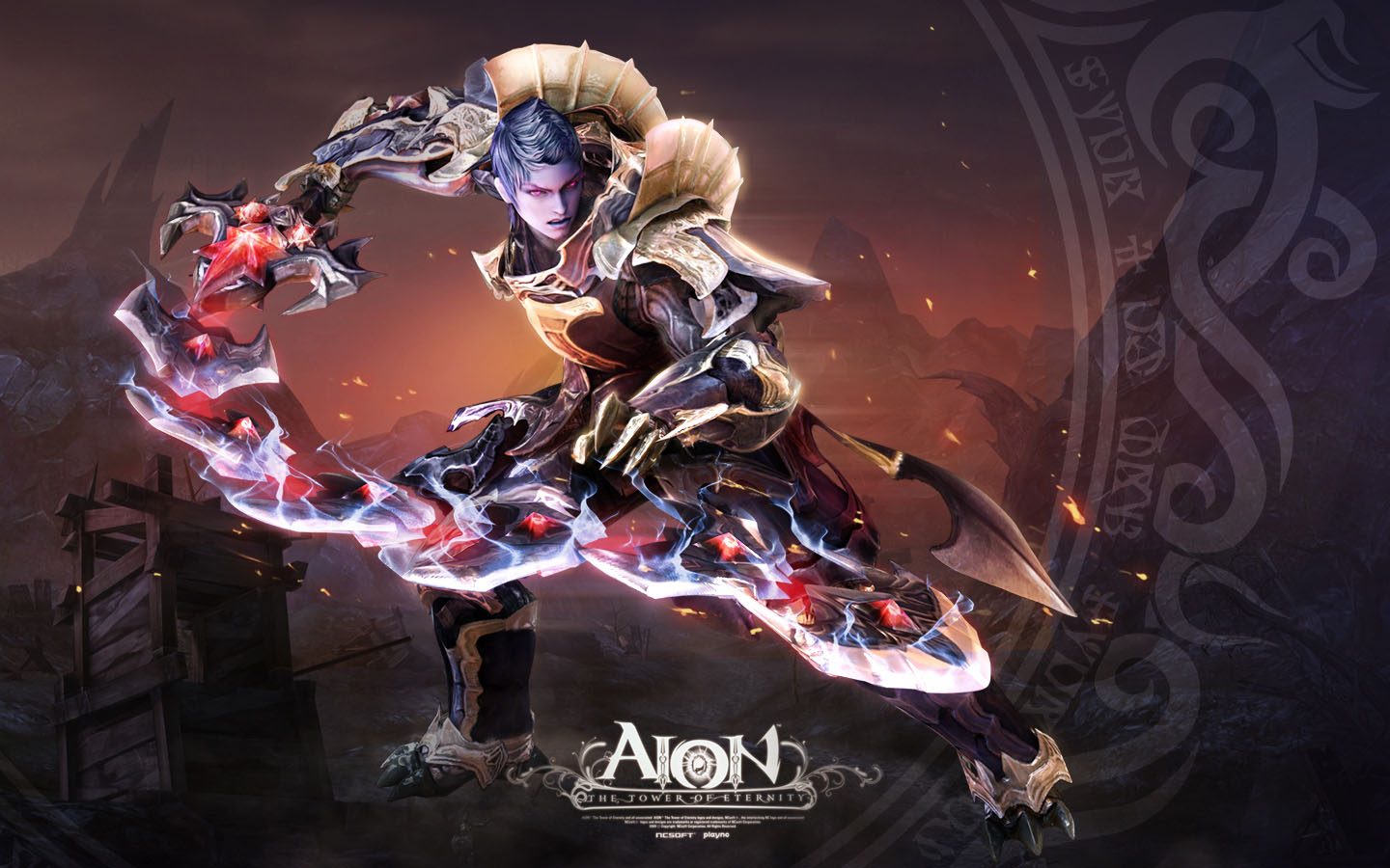 3d game fantasy character aion by jungwon park