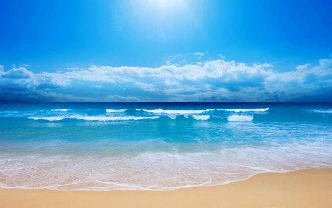 beautiful blue sea wallpaper