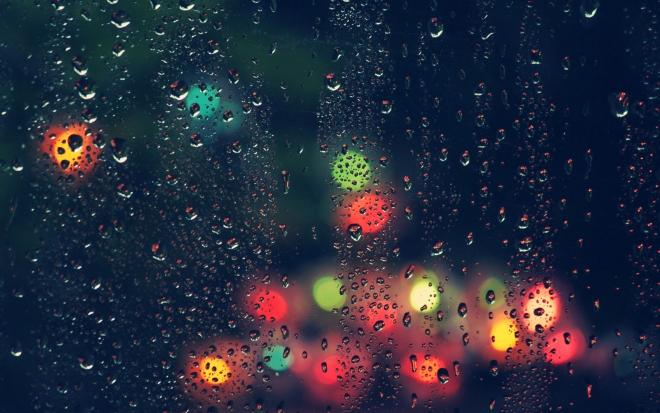 colour light raindrops on mirror wallpaper