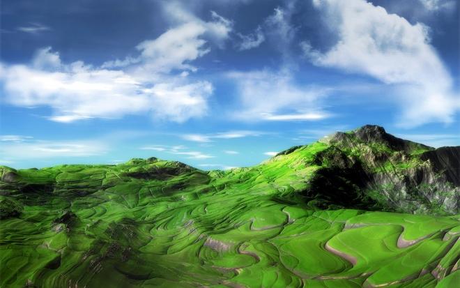 green mountains wallpaper