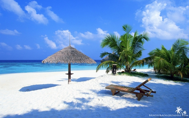tropical beach wallpaper wide