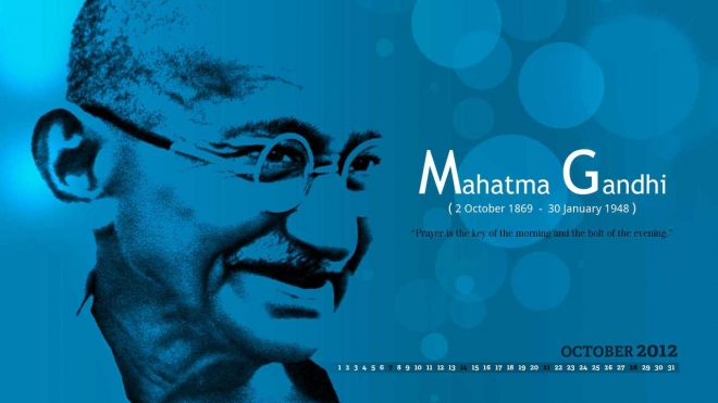 blue gandhi jayanti wallpaper