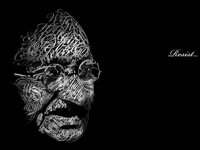 creative gandhi wallpaper