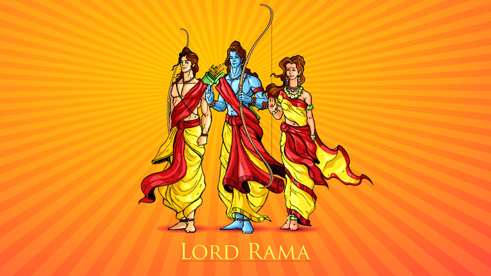 rama hindu lord cartoon wallpaper