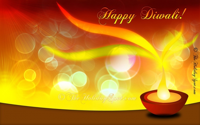 diwali e greeting card wallpaper