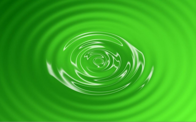 green wallpaper swirl