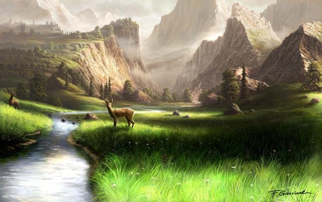 mountain digital art by feliks wallpaper