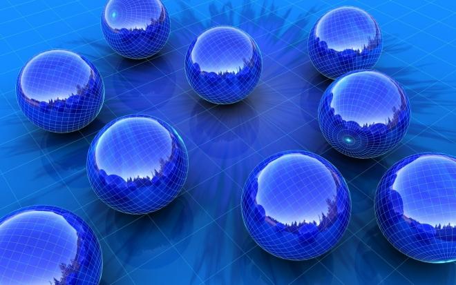 blue wallpaper sphere