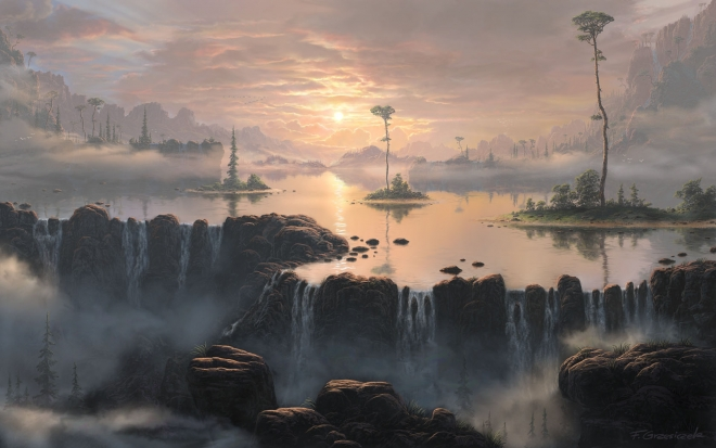 fog matte painting by feliks wallpaper