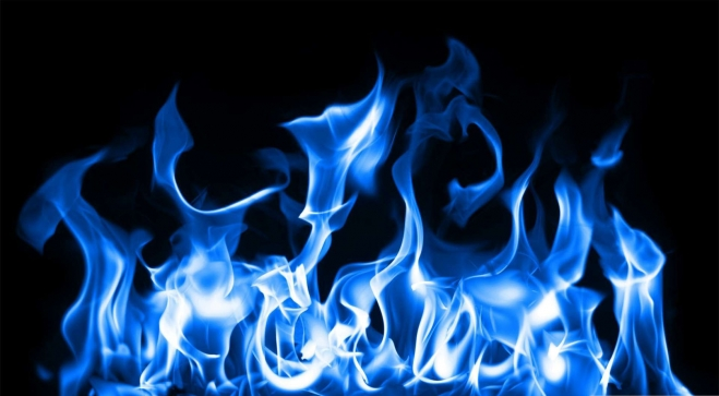 blue wallpaper fire