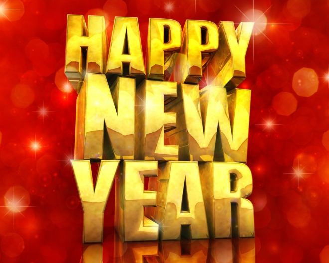 happy new year 3d gold effect wallpaper