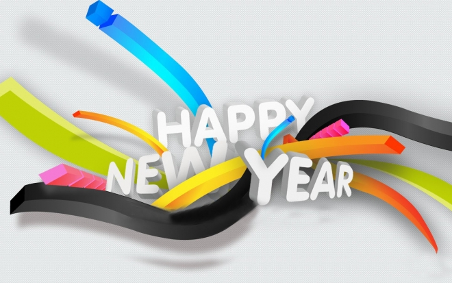 happy new year wallpaper colorful