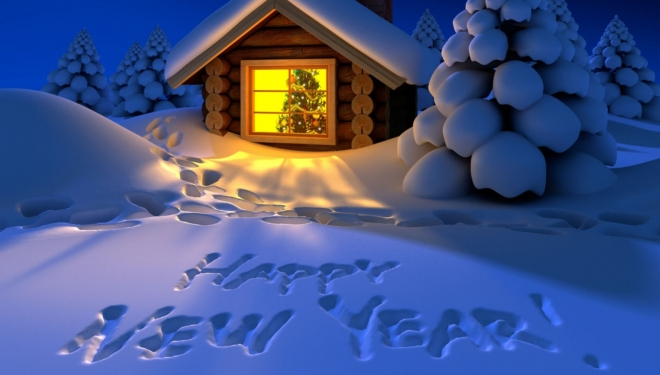 happy new year wallpaper snow