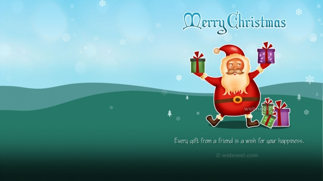 christmas wallpaper santa