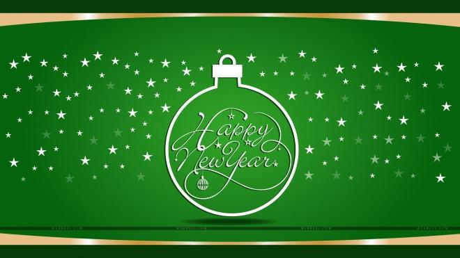 new year wallpaper green