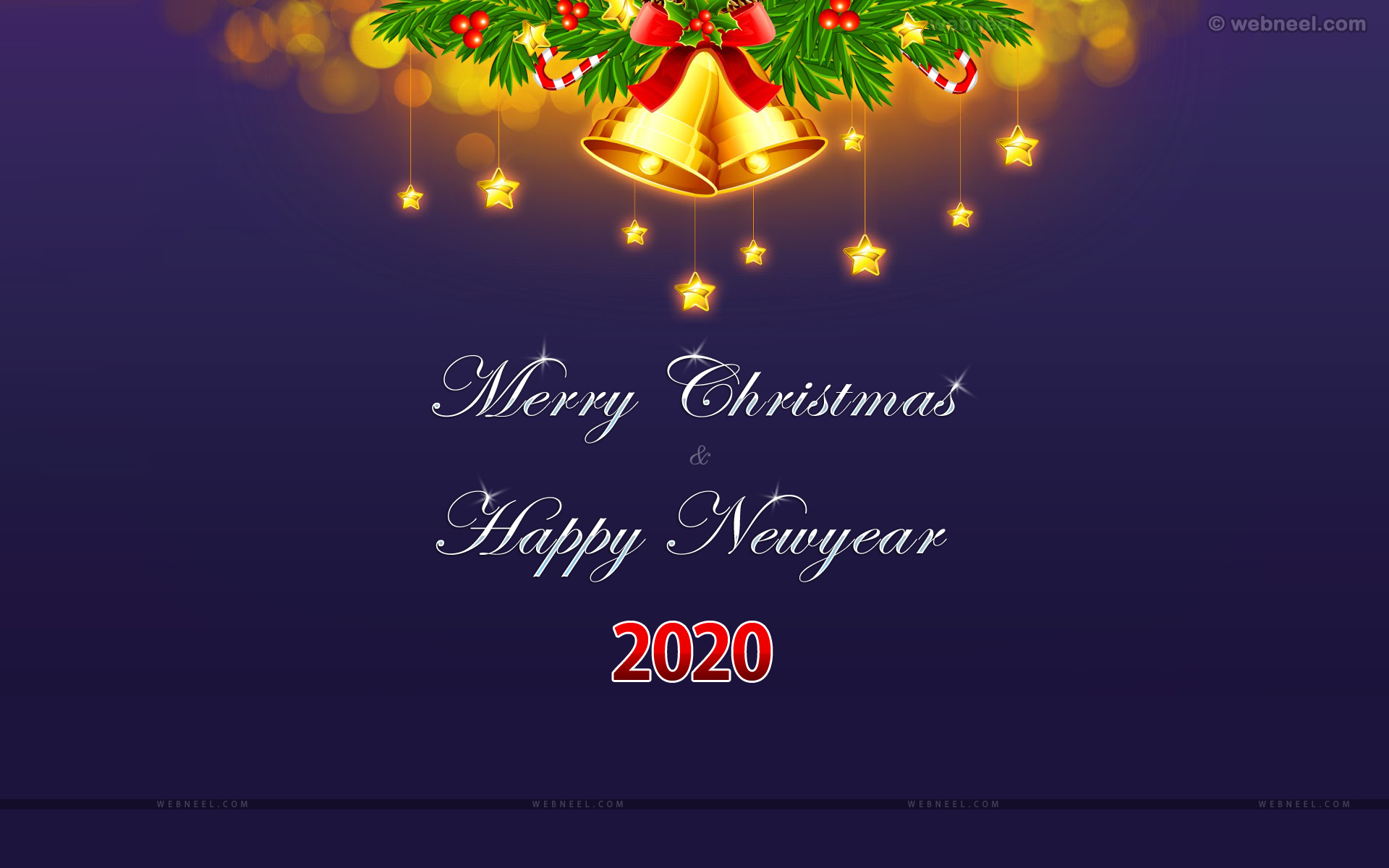 christmas and new year bell wallpaper