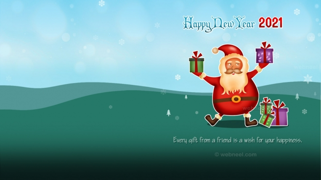 newyear wallpaper santa 2020