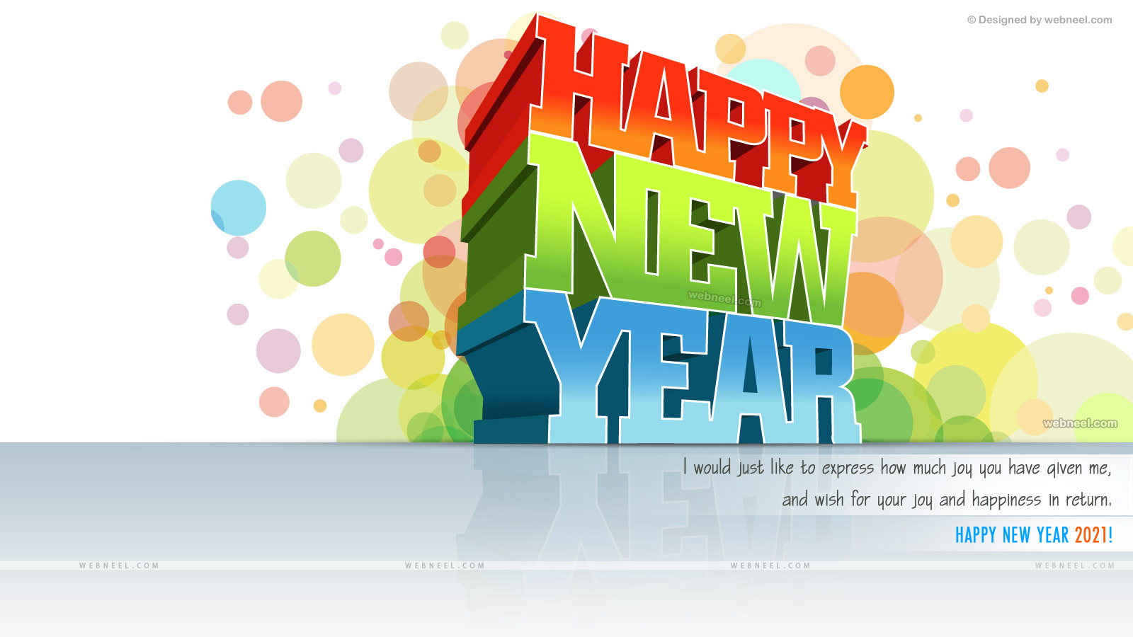 happy new year wallpaper white