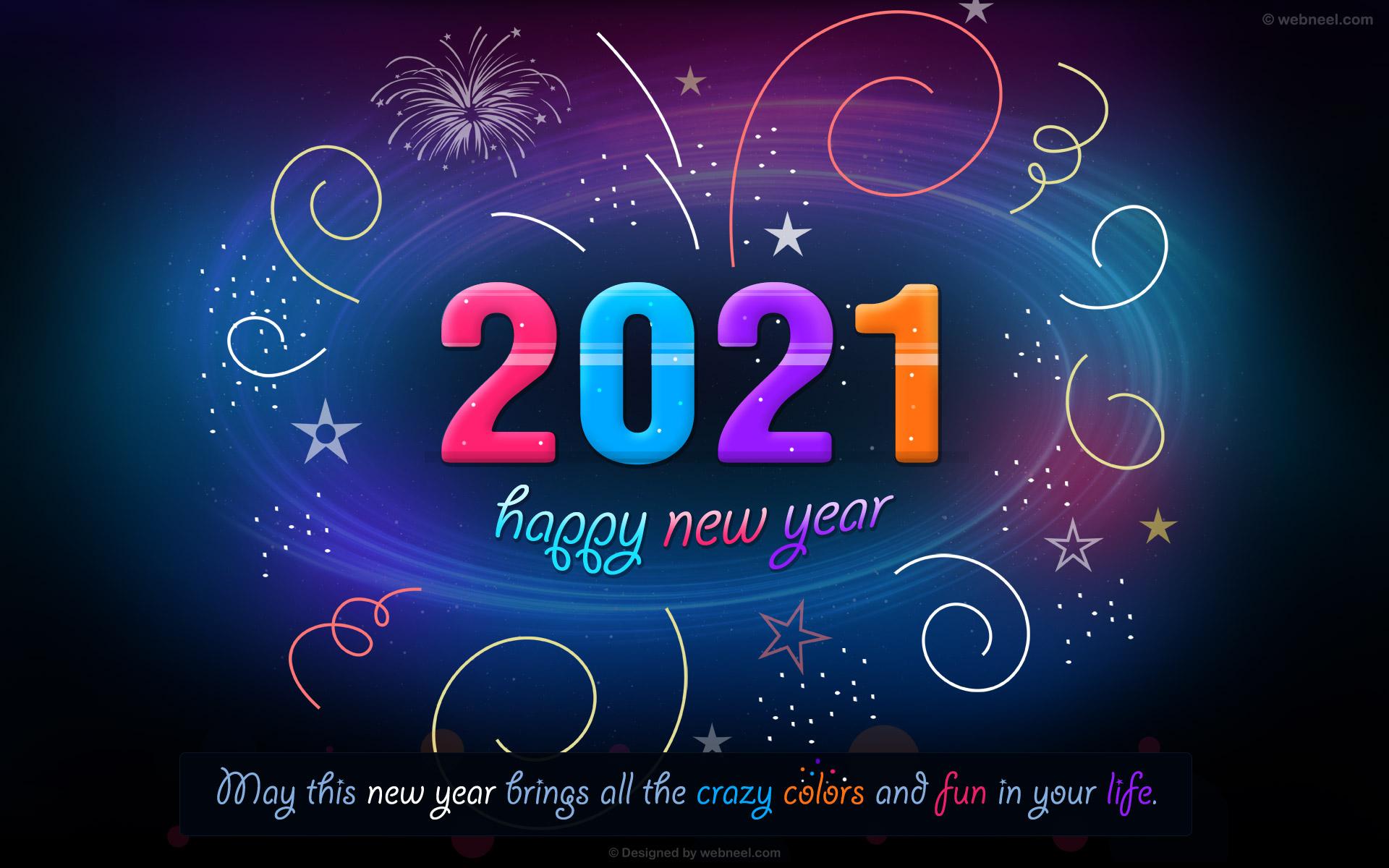 new year wallpaper fireworks