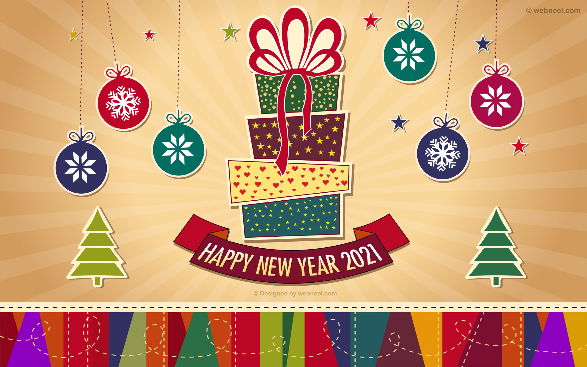 new year wallpaper vector